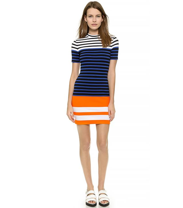 T by Alexander Wang Engineer Stripe Dress