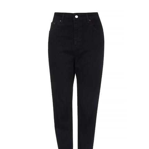 Petite Moto Black Mum Jeans