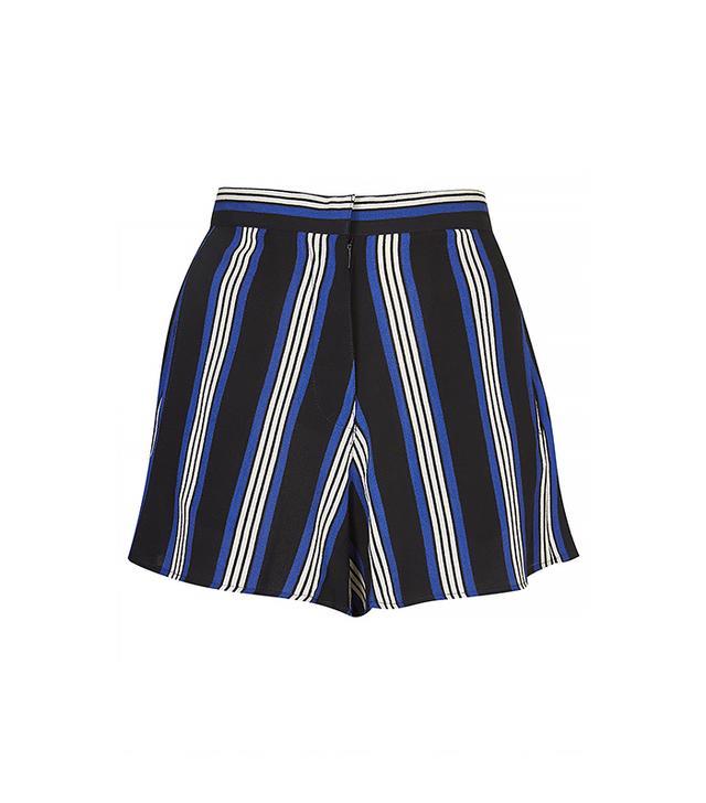 Topshop Stripe Print Shorts