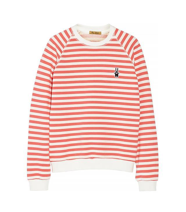 Finds + Peter Jensen Mariner Striped Cotton Sweatshirt