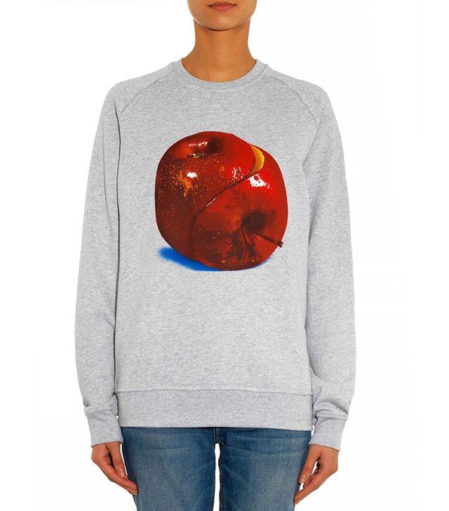 MSGM Apple-Print Cotton Sweatshirt