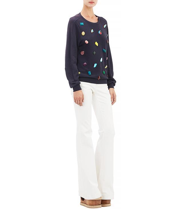 Stella McCartney Bejeweled Sweatshirt