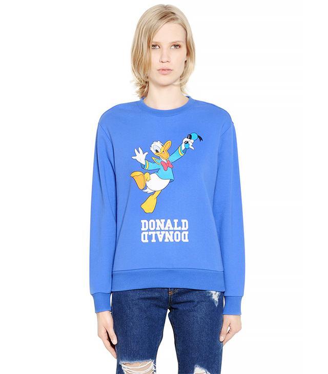 Steve J & Yoni P Donald Duck Printed Cotton Sweatshirt