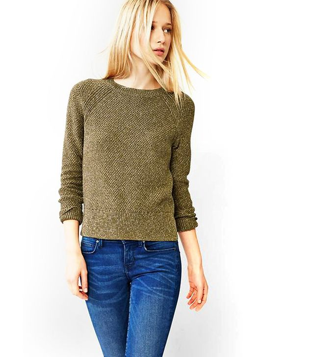Gap Moss Stitch Raglan Sweater