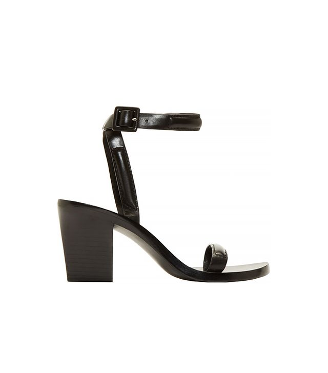 Alexander Wang Black Leather Ilva Sandals