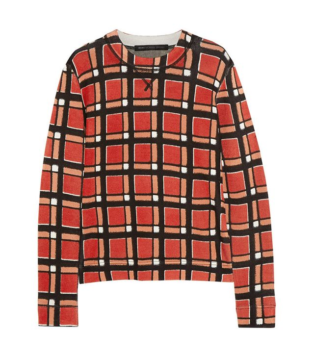 Marc by Marc Jacobs Toto Checked Stretch-Knit Sweater