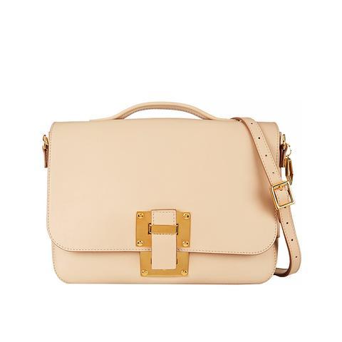 Soft Flap Leather Shoulder Bag