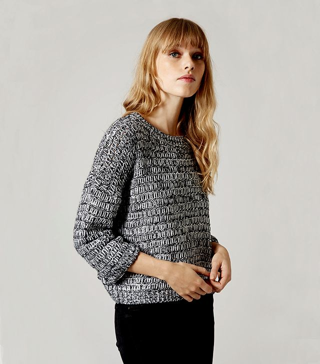 Topshop Salt and Pepper Slouchy Sweater