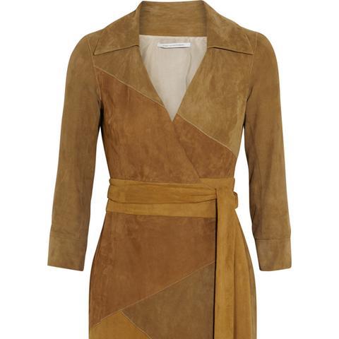 Selma Suede Wrap Dress