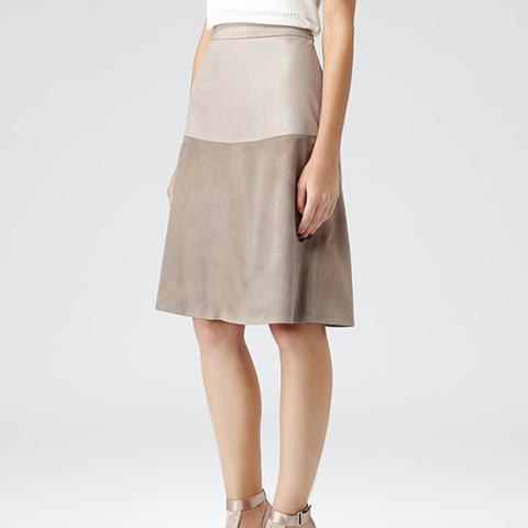 Hayden Textured Leather Skirt