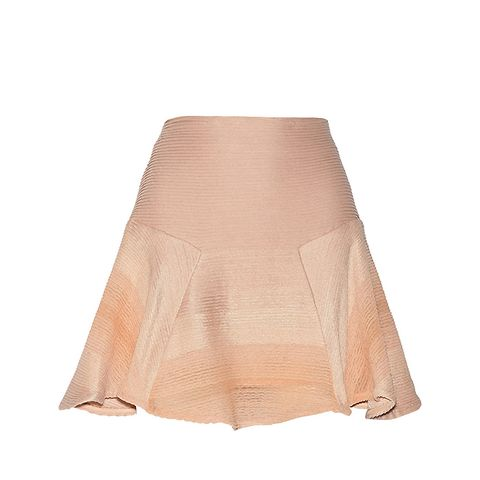 Textured Cotton-Blend Mini Skirt