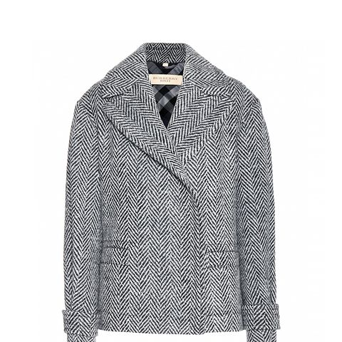 Charlesworth Herringbone Wool Pea Coat