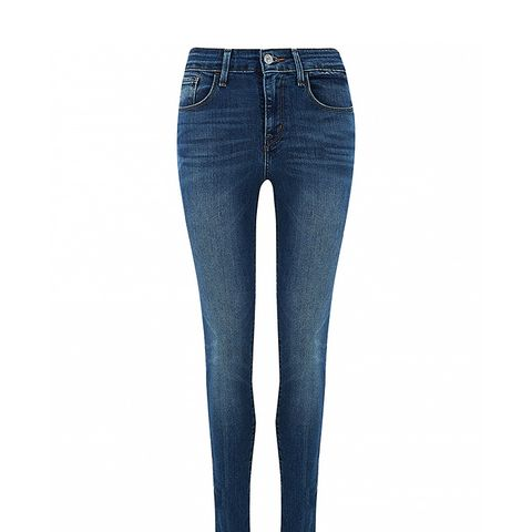 High Rise Blue Lagoona Skinny Jeans
