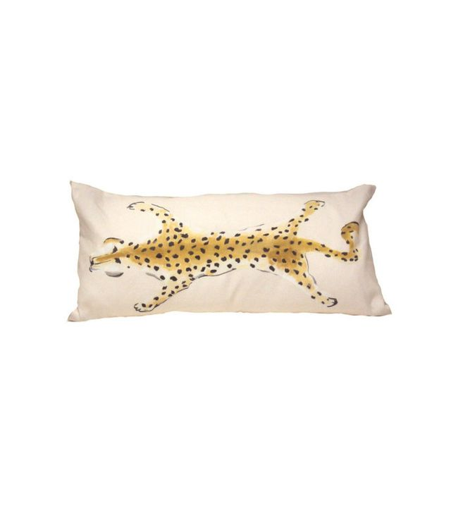 Dana Gibson Cream Leopard Lumbar Pillow