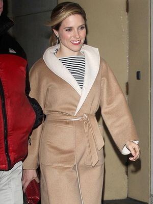 Sophia Bush Steps Out in the Most Beautiful Camel Coat