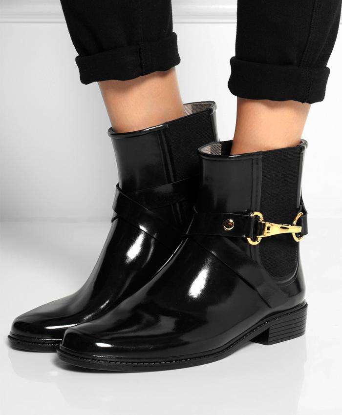 Hellozebra Women Rain Boots Waterproof Fashion Ankle 34