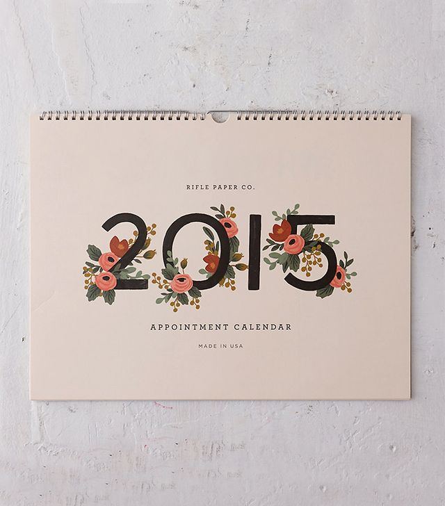 Rifle Paper Co. Flowers 2015 Appointment Calendar