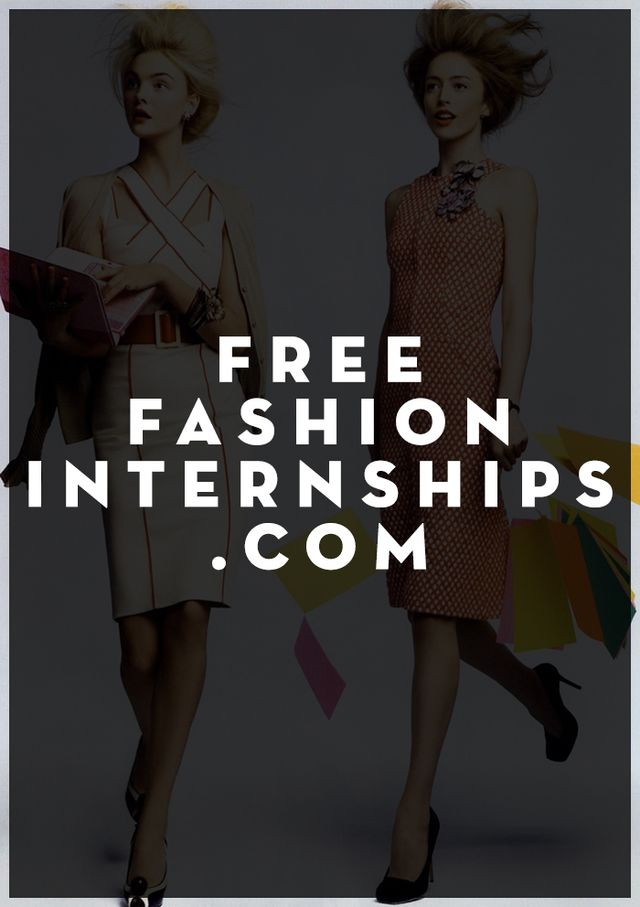 Free Fashion Internship Com