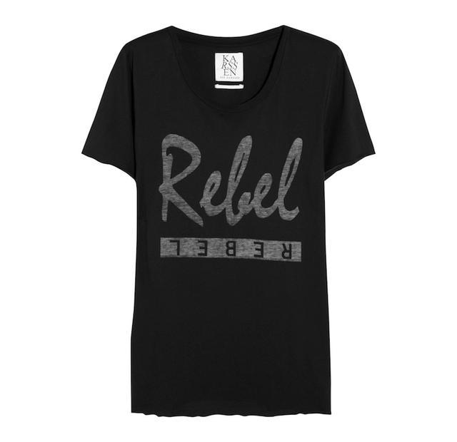 Zoe Karssen Rebel Cotton and Modal-Blend T-Shirt