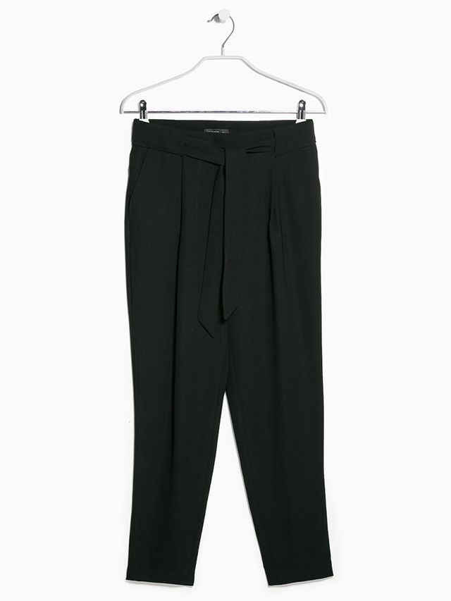 Mango Bow Crepe Trousers