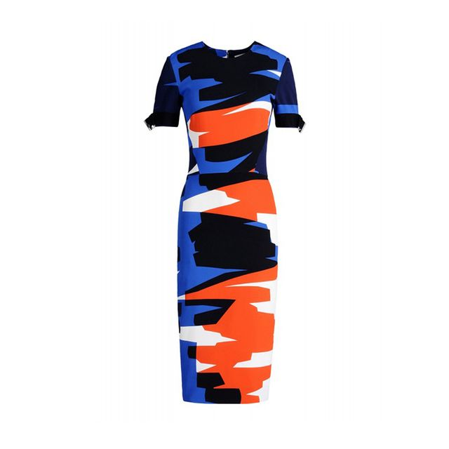 Mugler Brush Stroke Pencil Dress