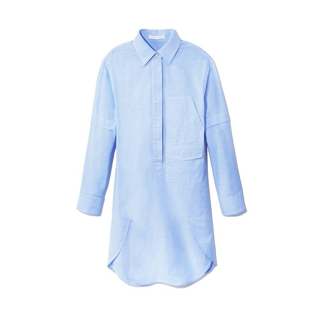 Alexander Wang Blue Cotton Shirtdress
