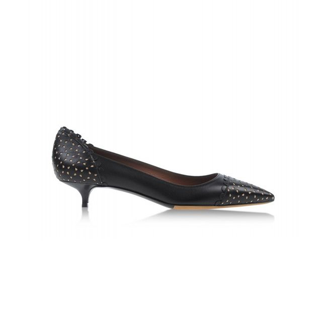 Tabitha Simmons Black Perforated Leather Heel