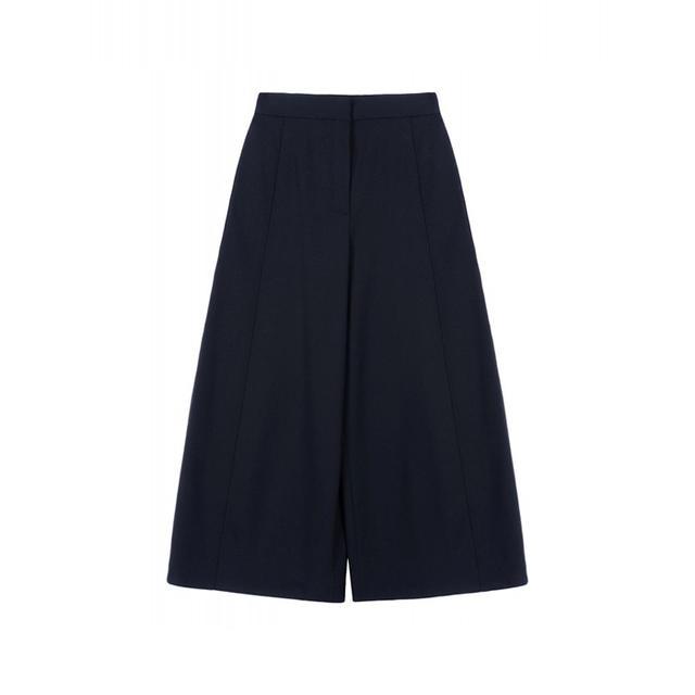 Proenza Schouler Wide Leg Cropped Wool Trousers