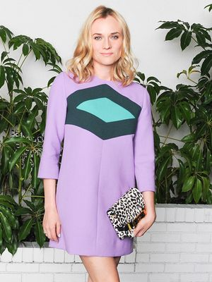 Diane Kruger is a '60s Style Babe at W Magazine Golden Globes Party