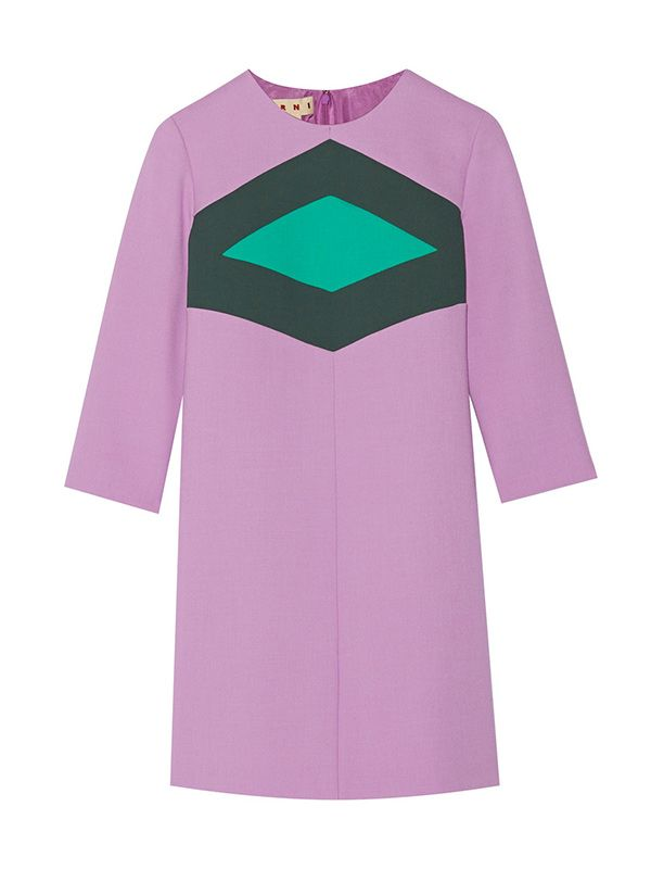 Marni Geometric Tri-Colour Dress