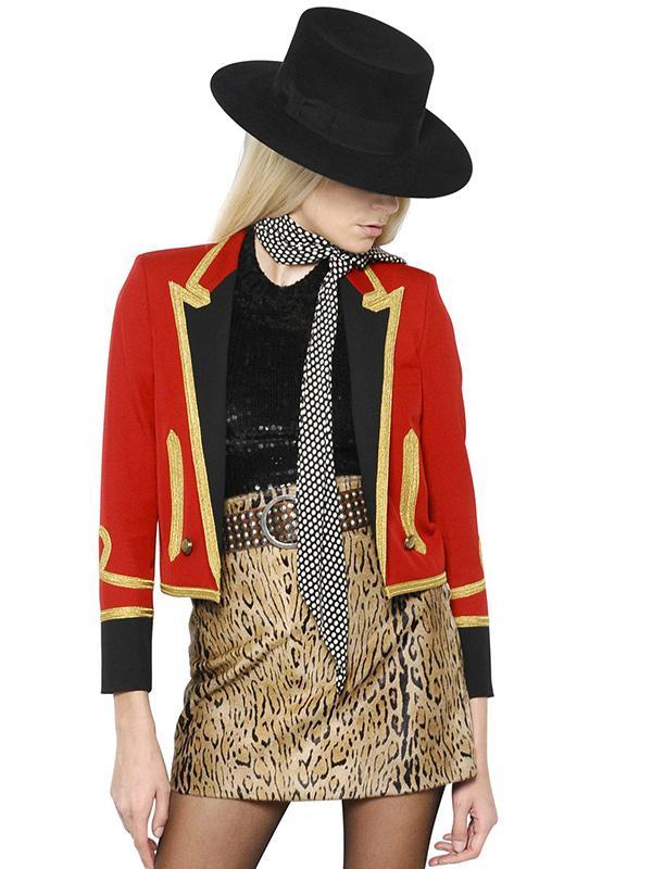 Saint Laurent Embellished Wool Spencer Jacket