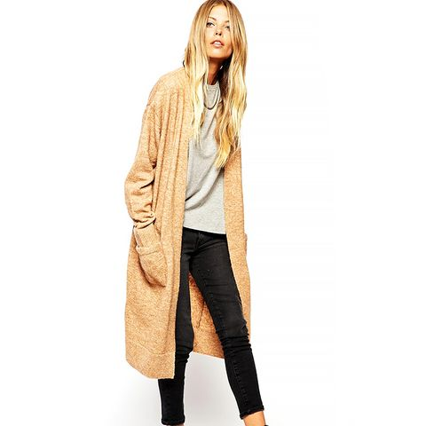 Longline Cardigan with Mohair