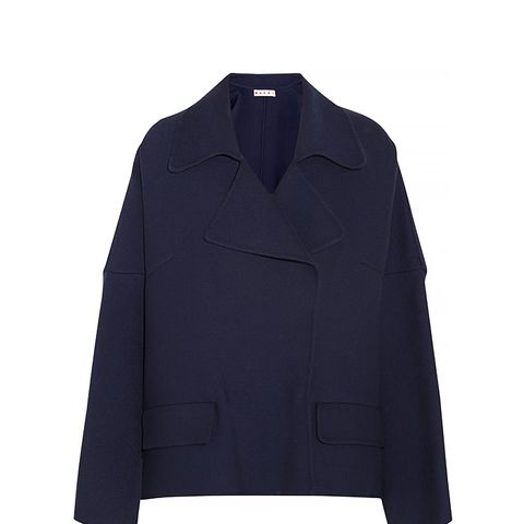 Oversized Double-Faced Wool-Twill Jacket