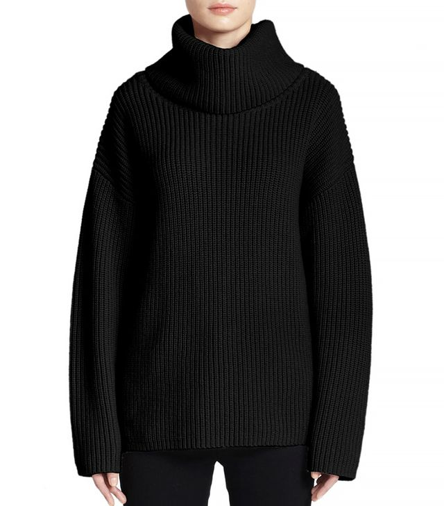 Theory Naven Oversized Ribbed Wool Turtleneck Sweater