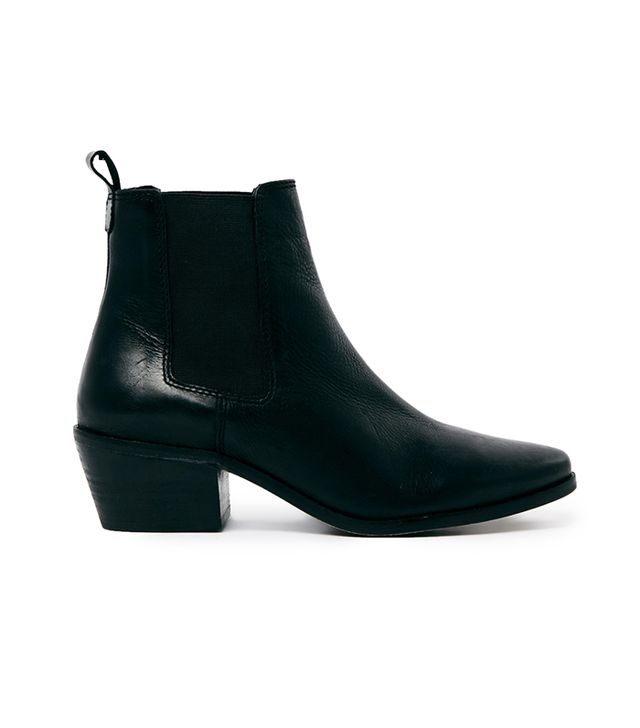 Dune Peetra Black Pointed Chelsea Boots