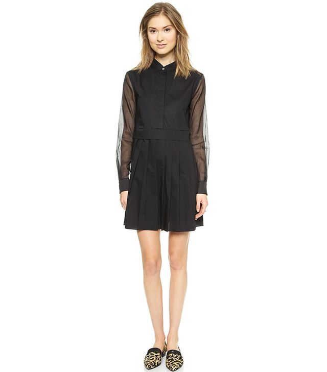 Derek Lam 10 Crosby Shirtdress with Pleated Skirt