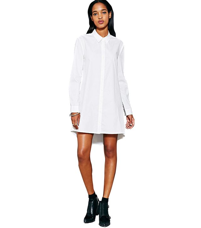 Silence + Noise Exploded Black Shirt Dress