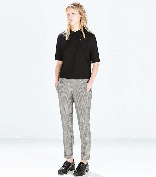 Zara Houndstooth Trousers