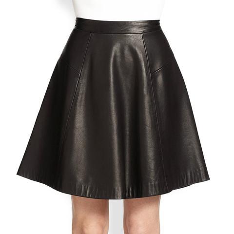 Gayle Leather Skirt