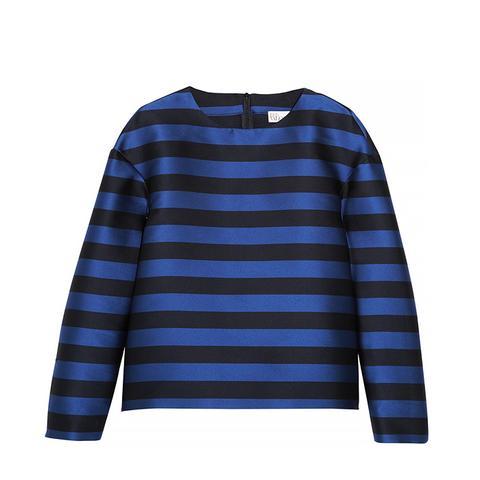 Striped Taffeta Top