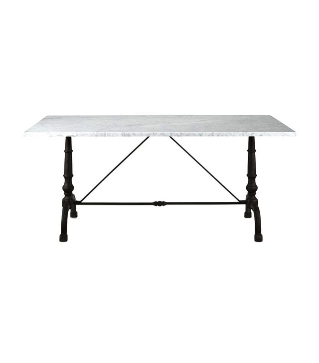 Williams-Sonoma Home La Coupole Rectangular Iron Bistro Table with Marble Top