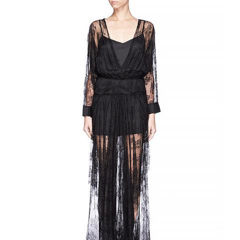 Gabriela Floral Lace Maxi Dress