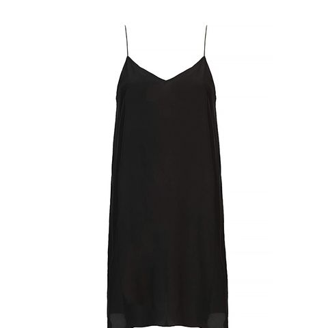 Swingy Silk Slip Dress