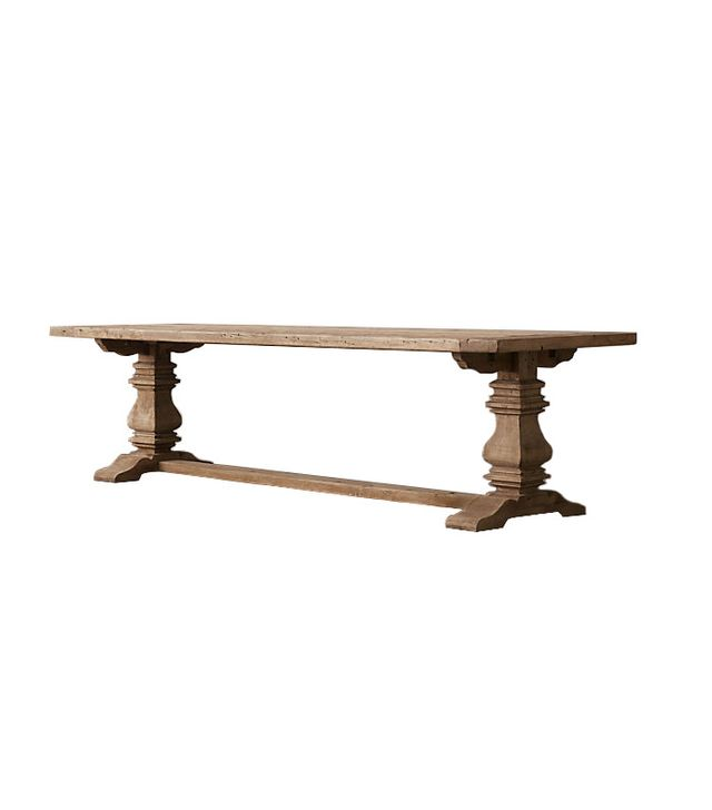 Restoration Hardware Salvaged Oak Trestle Table
