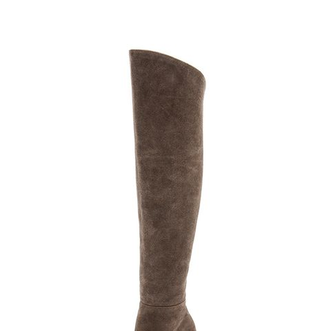 Sleek Suede Over the Knee Boots