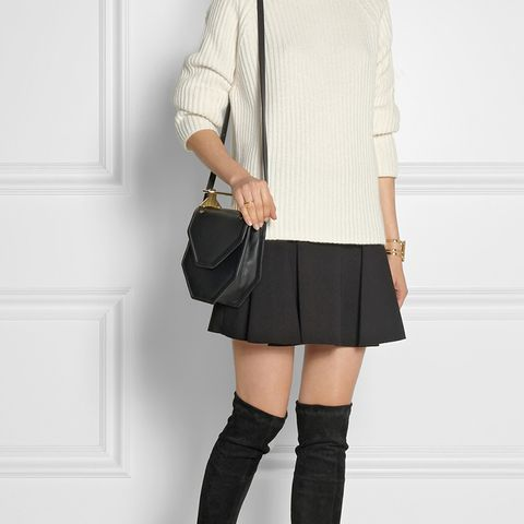 Cali Stretch-Suede Over-the-Knee Boots