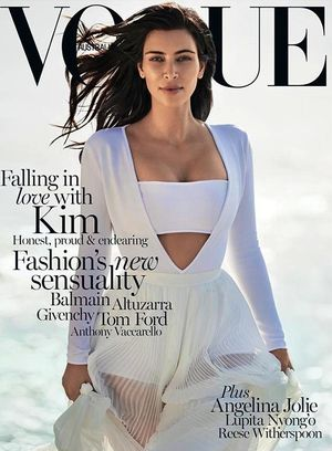Kim Kardashian Landed Her First Solo Vogue Cover
