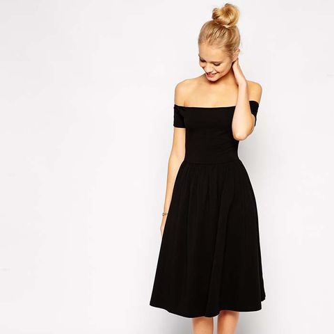 Bardot Midi Skater Dress