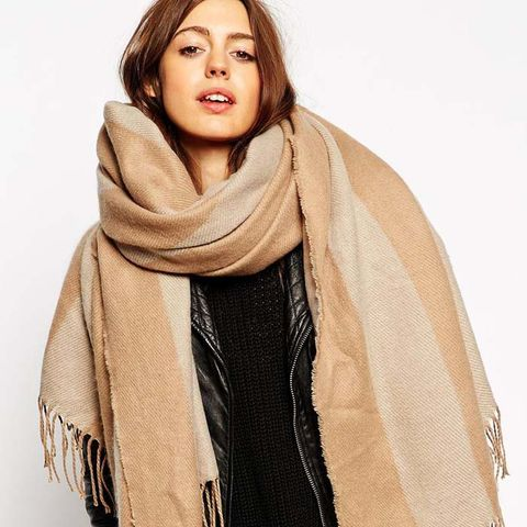 Oversized Stripe Scarf