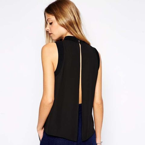 High Neck Tank with Open Back